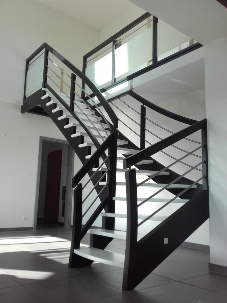Escalier Chevrier Escalier A L Anglaise Bi Couleurs