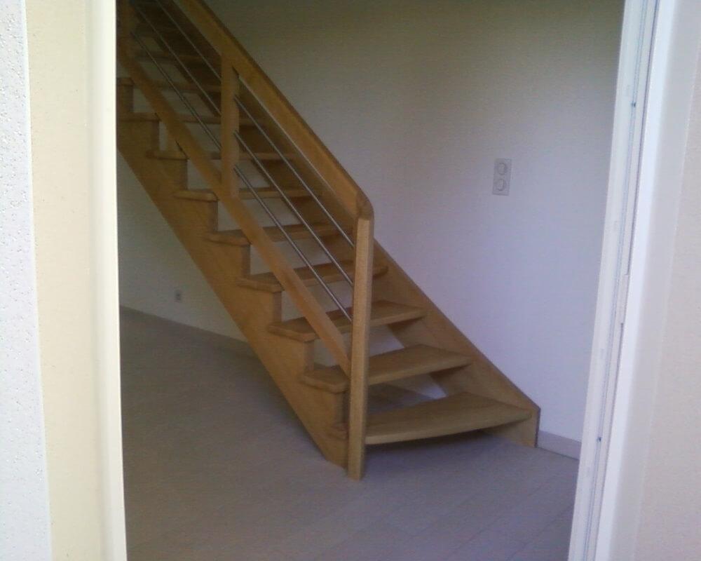 Escalier Chevrier Escalier A L Anglaise Vernis Naturel